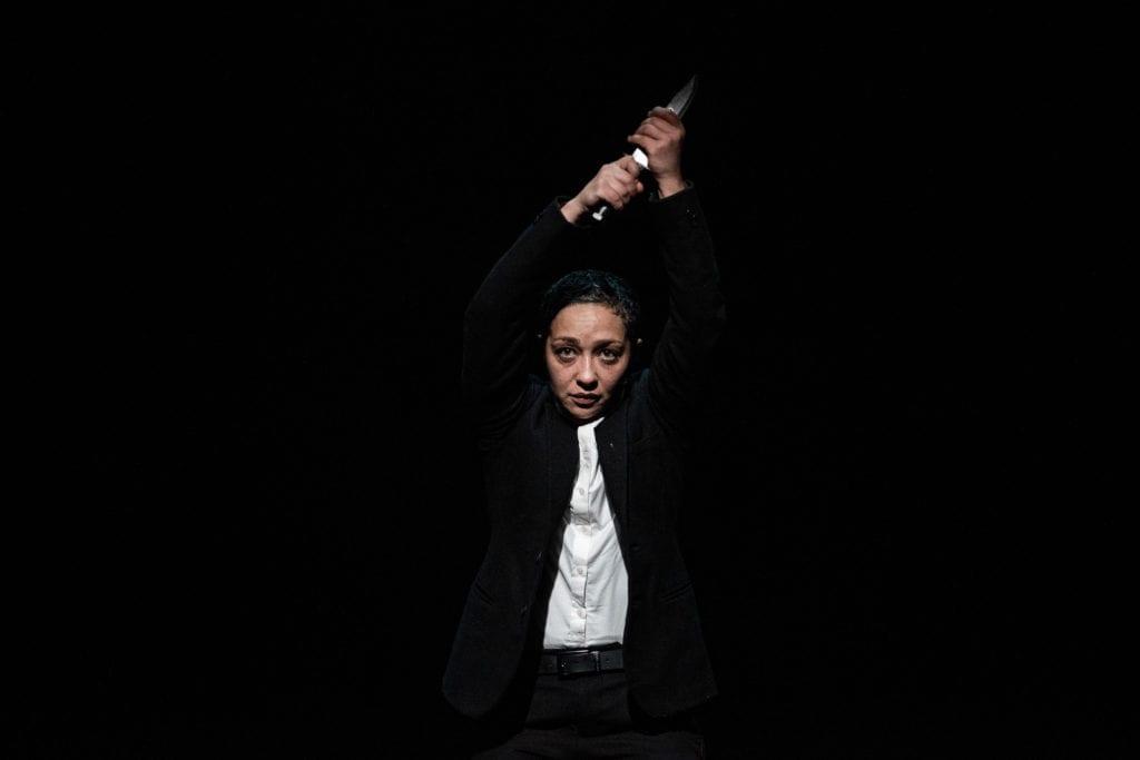 Negga as Hamlet, at St. Ann's Warehouse. Photo: Teddy Wolff