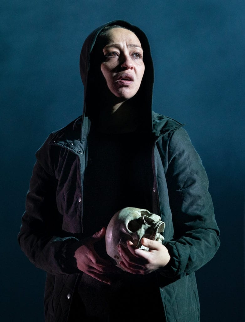 "Ruth Negga as the title character in ""Hamlet,"" photo by Sara Krulwich at The New York Times"